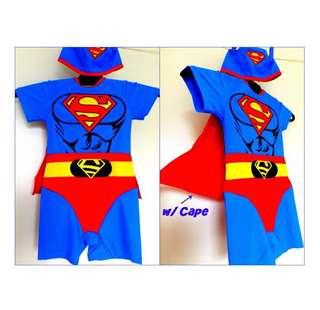 Superman Swimwear with Cape & Swim Cap
