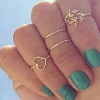 Boho Party Ring Set
