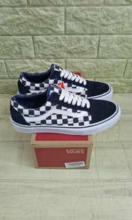 Vans oldskool old skool checkerboard japan indigo pack navy original
