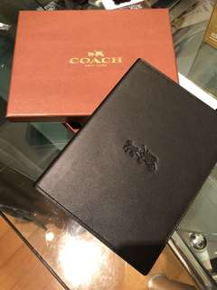 Coach leather notebook/journal