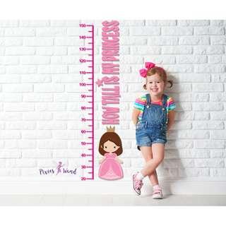 Sweet Princess Die-cut Acrylic Height chart