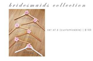 Personalised Wedding Hangers for Bridesmaids