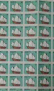 1980 Ship Stamps 1 cents sheet