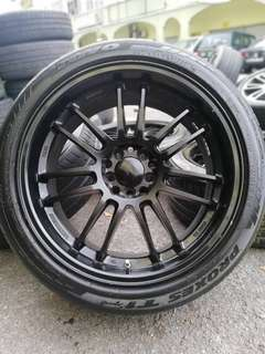 Re30 18 inch sports rim lancer gt tyre 80%. *below market price*