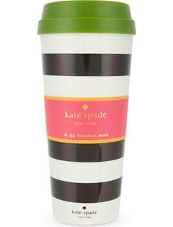 Good Deal 😍$320 KATE SPADE NEW YORKMonochrome-striped thermal mug included local postage
