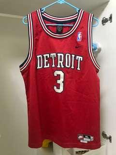 Detroit Wallace Vintage NBA Jersey Size XL