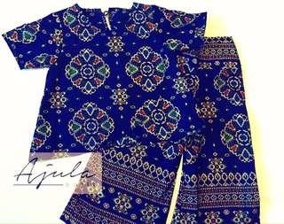 Batik top and palazzo