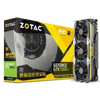 ZOTAC GeForce GTX 1080 Ti CORE AMP Extreme 11GB GDDR5X 352-bit PCIe 3.0 Gaming Graphics Card VR Ready