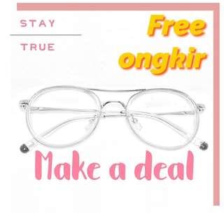 Frame kacamata silver