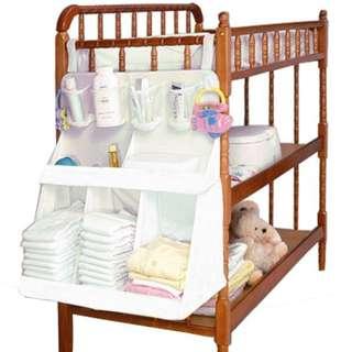 Baby Bed Cot Hanging bag★ Baby bedside Bag★ Diaper organiser ★Storage solutions ★Infant diapers