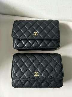Chanel WOC Black Caviar / Lambskin