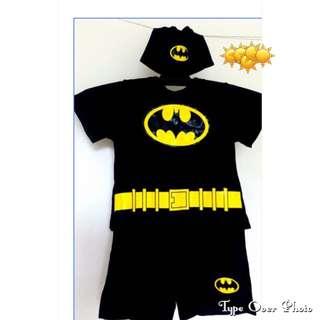 Batman Swimwear Black with Swim Cap