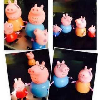 Peppa pig figurine cake topper for cake display decoration
