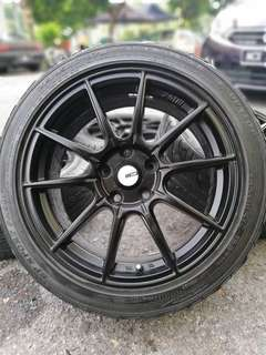 Ssr gtx-01 17 inch sports rim civic fd tyre 70%. *below market price*
