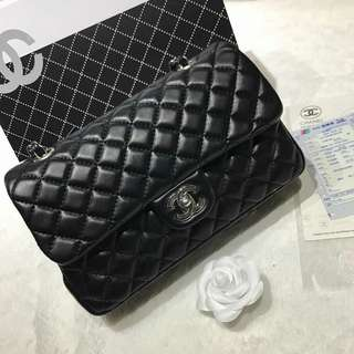 Chanel Classic Double Flap Lambskin with Silver Hardware