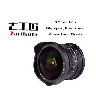 7artisans 7.5mm F2.8 APS-C Fisheye Fixed Lens for Olympus Panasonic Micro Four Thirds MFT M4/3 Cameras