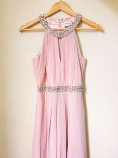 REPRICED Nude Pink Long Gown by Vince Camuto Size 4