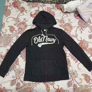 Old Navy Dark Gray Hoodie Jacket