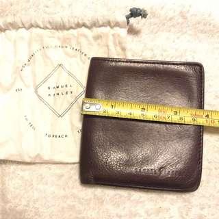 [👛70%New include postage 包平郵] Samuel & Ashley Lamb Skin Wallet / 真羊仔皮銀包[9.5cm(L-folded)x 10cm(H)]