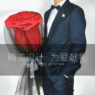 4个颜色的70cm巨型玫瑰花