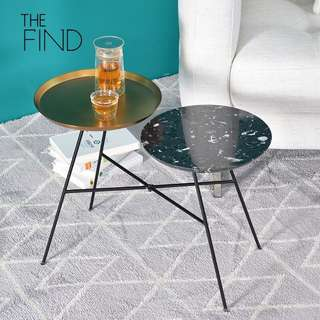 Marble & Brass Duo Side Table Coffee Table