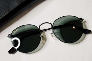 1991 B&L RayBan Round Metal W0604 Vintage Sunglasses