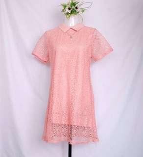 SELF PORTRAIT INSPIRED LACE COLLARED DRESS