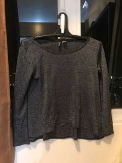 H&M gray sparkly long sleeves