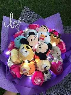 Tsum Tsum娃娃花束