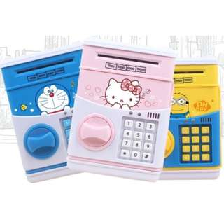 Coin Bank★Cartoon ATM bank★Piggy Bank★Educational coin bank★Doraemon★Hello Kitty★Angry Bird★Pikachu