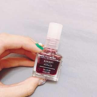 MUJI無印暢銷透明紅指甲油#彩妝半價