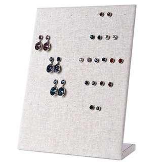Earrings Display - Fine Linen