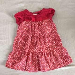 Gymboree USA red flowers dress shirt 18 month