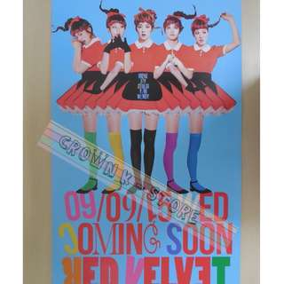[CRAZY DEAL 90% OFF FROM ORIGINAL PRICE][READY STOCK]RED VELVET KOREA OFFICIAL POSTER!!NEW! OFFICIAL ORIGINAL FROM KOREA (SELAED) (PRICE NOT INCLUDE POSTAGE) SHIP USING TUBE