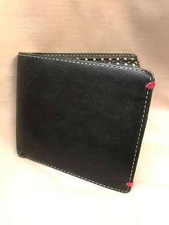 [👛 Rare Vintage include postage 包郵寄] Paul Smith Mans Leather Wallet 銀包(Black & Dots bi-fold)