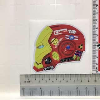 Iron man helmet vinyl sticker