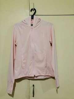 Uniqlo Women AIRism UV Cut Mesh Full-Zip Hoodie - Pink