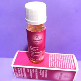weleda since 1921 wild rose pampering body oil 10ml