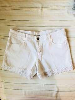 Tezeniz White Shorts