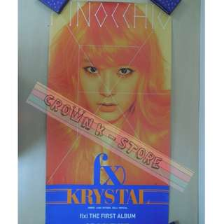 [CRAZY DEAL 90% OFF FROM ORIGINAL PRICE][READY STOCK]f(x) KRYSTAL KOREA OFFICIAL POSTER!!NEW! OFFICIAL ORIGINAL FROM KOREA (SELAED) (PRICE NOT INCLUDE POSTAGE) SHIP USING TUBE