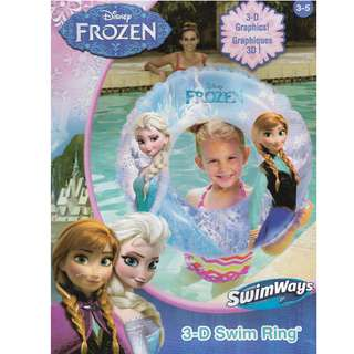 Disney Frozen Elsa and Anna Inflatable 3-D Swimming Ring Float