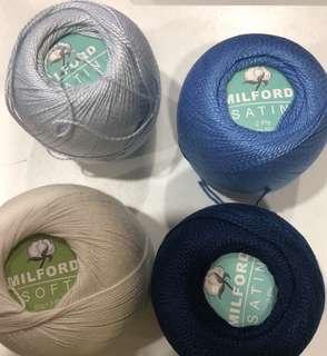 Milford Satin/Soft 2/3Ply Blue & White