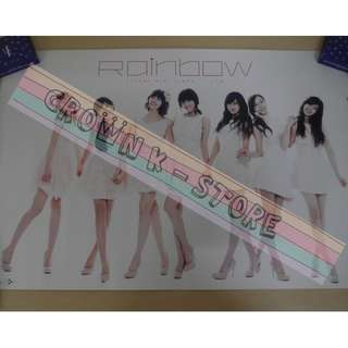 [CRAZY DEAL 90% OFF FROM ORIGINAL PRICE][READY STOCK]RAINBOW KOREA OFFICIAL POSTER!!NEW! OFFICIAL ORIGINAL FROM KOREA (SELAED) (PRICE NOT INCLUDE POSTAGE) SHIP USING TUBE