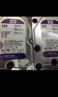 Wts wd 3tb purple sata hdd with warranty 2019 $100