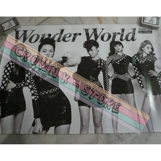 [CRAZY DEAL 90% OFF FROM ORIGINAL PRICE][READY STOCK]WONDER GIRLS KOREA OFFICIAL POSTER!!NEW! OFFICIAL ORIGINAL FROM KOREA (SELAED) (PRICE NOT INCLUDE POSTAGE) SHIP USING TUBE