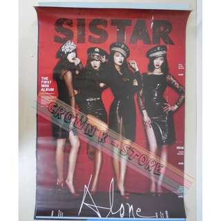 [CRAZY DEAL 90% OFF FROM ORIGINAL PRICE][READY STOCK]SISTAR KOREA OFFICIAL POSTER!!NEW! OFFICIAL ORIGINAL FROM KOREA (SELAED) (PRICE NOT INCLUDE POSTAGE) SHIP USING TUBE