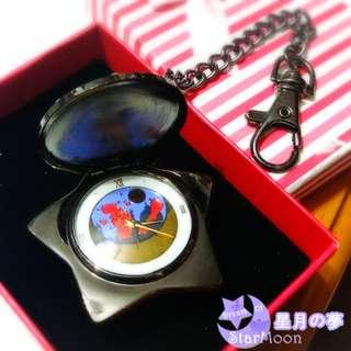 美少女戰士 Sailor Moon 禮服蒙面俠 星形懷錶音樂盒