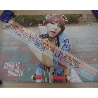 [CRAZY DEAL 90% OFF FROM ORIGINAL PRICE][READY STOCK]4MINUTE KOREA OFFICIAL POSTER!!NEW! OFFICIAL ORIGINAL FROM KOREA (SELAED) (PRICE NOT INCLUDE POSTAGE) SHIP USING TUBE