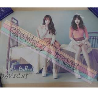 [CRAZY DEAL 90% OFF FROM ORIGINAL PRICE][READY STOCK]DAVICHI KOREA OFFICIAL POSTER!!NEW! OFFICIAL ORIGINAL FROM KOREA (SELAED) (PRICE NOT INCLUDE POSTAGE) SHIP USING TUBE