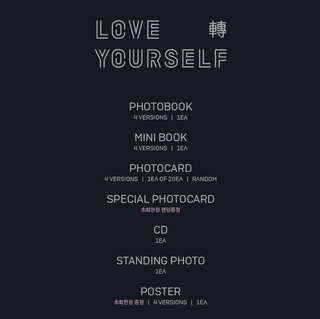 🇲🇾 [PREORDER] BTS 3RD ALBUM: LOVE YOURSELF 轉 TEAR